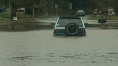 Road Flood Stock Footage