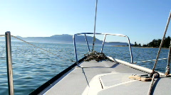 Boating 02: Bow in San Juan Islands Stock Footage