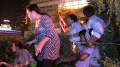 DEATH Protesters wounded in grenade attack Bangkok terror bomb suicide vest  Stock Footage