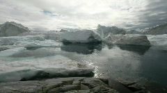 Water and Icebergs Stock Footage