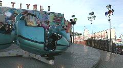 Ride in an amusementpark Stock Footage