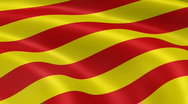 Stock Video Footage of CataloniaFlag