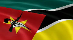 MozambiqueFlag Stock Footage