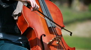 Woman plays on the cello Stock Footage