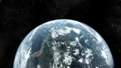 Earth spiral zoom in. - stock footage