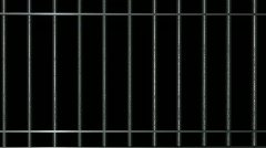 Jail Cell Door Close With Alpha Stock Footage