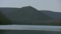 Mountain Lake Zoom Out Stock Footage