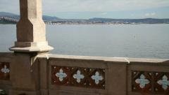 Terrace by the Sea. Trieste, Italy - stock footage