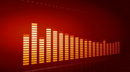 Loopable background equalizer Stock Footage