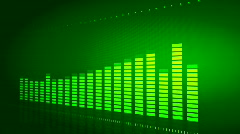 Green DJ equalizer  - stock footage