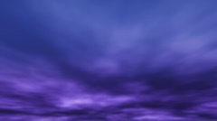 Cirrus Dusk Clouds Stock Footage