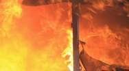 House burning intense fast P HD 7907 Stock Footage