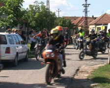 Club motorcycle parade Stock Footage