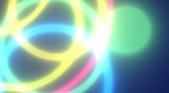 Stock Video Footage of Colorful Neon Circles Abstract