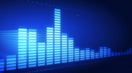 Graphic music equalizer Stock Footage