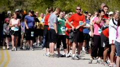 Marathon runner Stock Footage