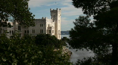 Stock Video Footage of Miramare Castle, Trieste, Italy.