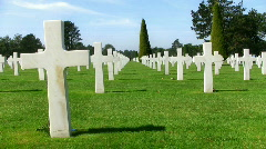 Normandy American Cemetery and Memorial Stock Footage