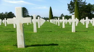 Stock Video Footage of Normandy American Cemetery and Memorial