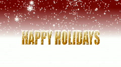 Happy holidays snow red  Stock Footage
