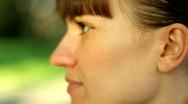 Smiling woman, closeup Stock Footage