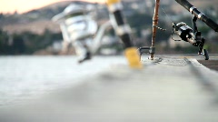Fishing in the Early Evening Stock Footage