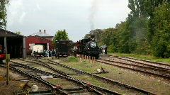 Two old steamengine trains  Stock Footage