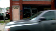 Small Town Driving Plate 1881 Stock Footage
