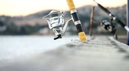 Stock Video Footage of Fishing Poles