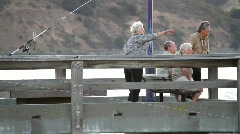 Tourists Pointing on Dock Stock Footage