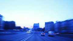 Time Lapse City Driving at sunrise Stock Footage