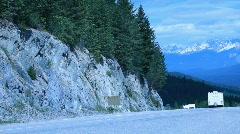 Banff Park road British Columbia Canada P HD 7374 Stock Footage