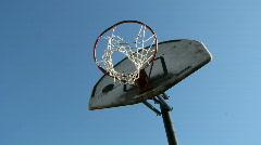 Basket ball hoop Stock Footage