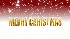 Merry christmas red  Stock Footage