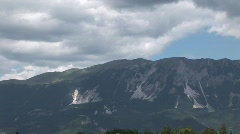 mountain in Slovenia with dark clouds - stock footage