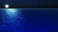 Water Series: Moonlight Night Stock Footage