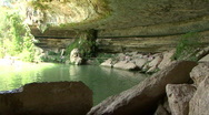 Hamilton Pool - Swimming Hole Stock Footage