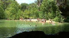 Hamilton Pool - Swimming Hole Stock Footage