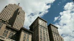 Buildings against sky - stock footage