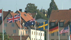Country flags Stock Footage