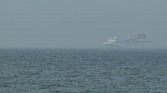 Destination Gotland passenger arriving in Visby harbor on the island of Gotland  Stock Footage