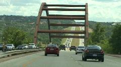 Steel Truss Arch Bridge Stock Footage