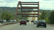 Stock Video Footage of Steel Truss Arch Bridge