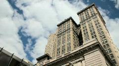 Buildings against sky pan - stock footage