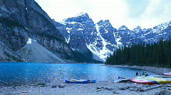 Canada Moraine Lake P HD 7450 Stock Footage