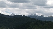 Stock Video Footage of Mountains in Slovenia on a cloudy day