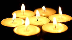 Romantic candle lights Stock Footage
