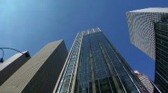 Looking up at tall buildings Stock Footage