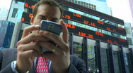 Stock Video Footage of business man and smart phone
