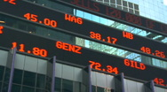 Stock Video Footage of stock ticker